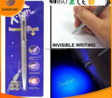 metal body good quality uv light invisible ink pen