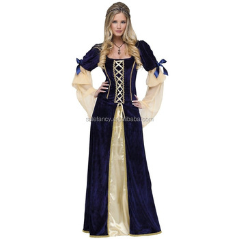 405fa2b6bcd Renaissance Costumes for Women Adult Medieval Faire Halloween Fancy Dress  QAWC-0356