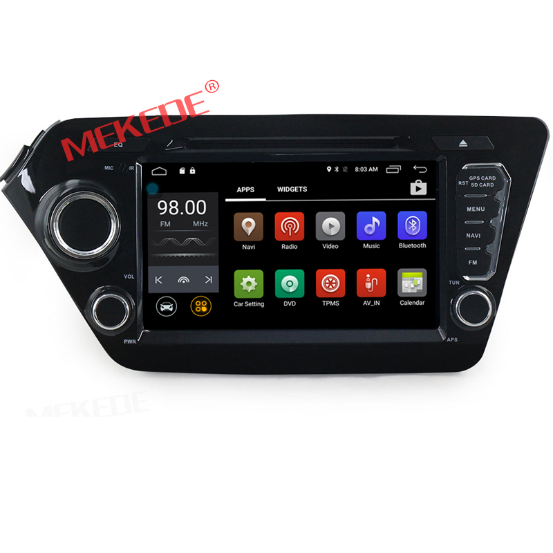 8 inch Android 7.1 car radio car dvd player navigation for k ia k2 RIO support 4G WIFI GPS audio