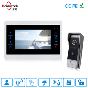 Manufacturer 7 inch Competition Video Door Phone Intercom System / Door Bell Entry Security System