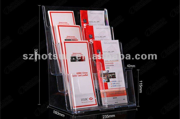clear table magazine stand/paper holder/periodical rack