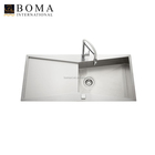 New Design 18G Sus304 Top Mounting Handmade Sink With Faucet Hole