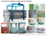 Glass fusing kilns glassware making machine