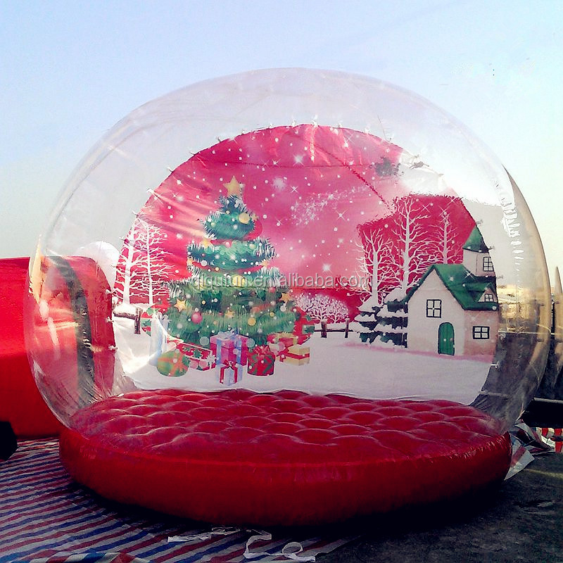 Christmas Items,interesting pvc material inflatable human size snow globe