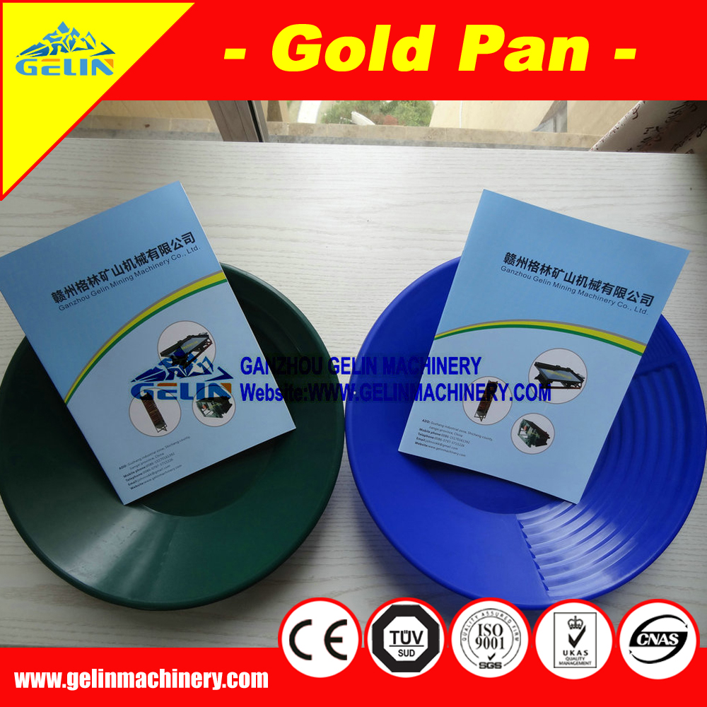 customized gold panning dish