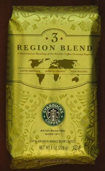 Starbucks Three Region Blend Coffee - Whole Bean 1Lb