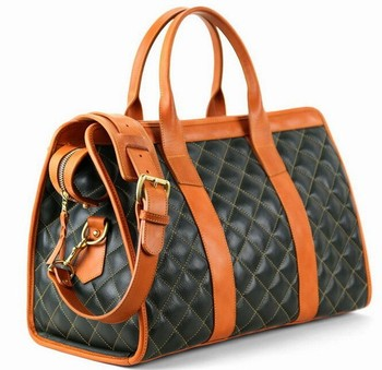 Small Duffel Bag Lady Quilted Leather Travel Brand Weekend Bags For Women