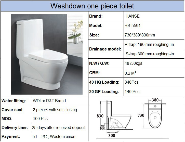 Hs 5591 Foshan Produce Size Siphonic Australian Standard Toilet
