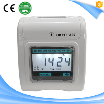 Hot Sale Two Color Print Time Recorder 6 Keys Time Keeping Machine Punch  Card Clock - Buy Time Recorder,Recording Clock Product on Alibaba com