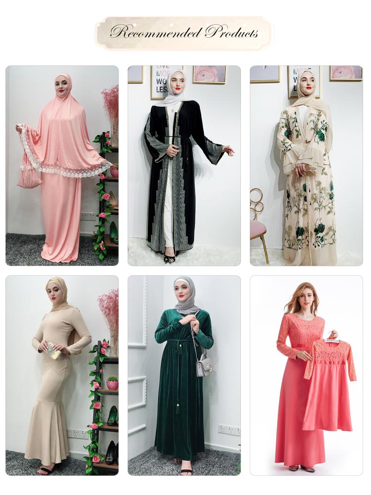 Elegante Semplice di Modo Stripes Patchwork Vestito Sottile Veste Musulmana Allentato Gonna Lunga Abaya Burqa Naso Pezzo Niqab
