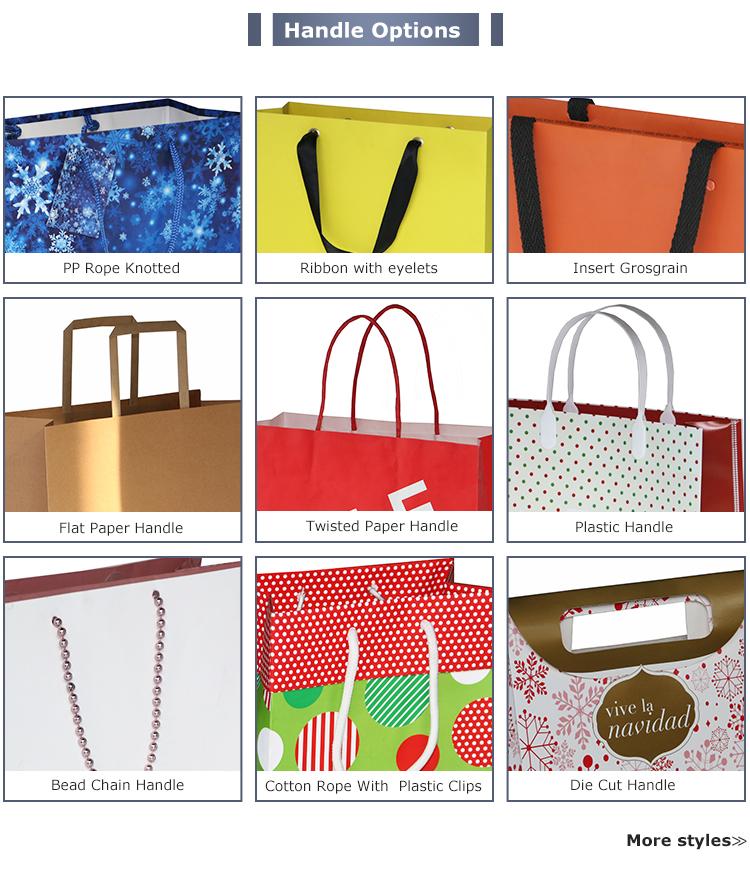Laminiert Romantische Benutzerdefinierte Valentines Tag Papier Geschenk Tasche Dekorative Papier Einkaufstasche