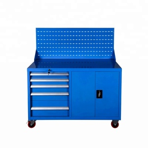Metal Used Tool Trolley Heavy Duty Tool Cabinet Garage with Tool Hanging Backboard