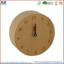 Chian supplier luxury executive antique decorative solid wood bedside clock, desk clock