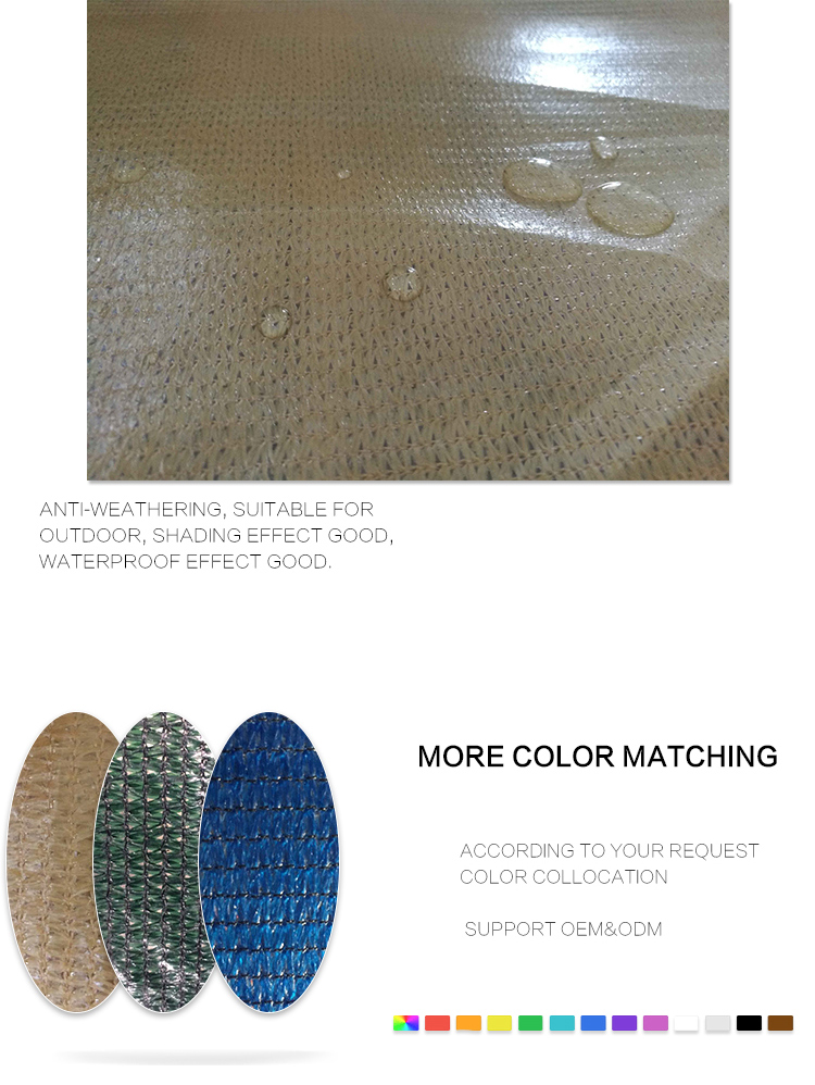 South Africa Coating waterproof sun shade netting from Changzhou Sumao