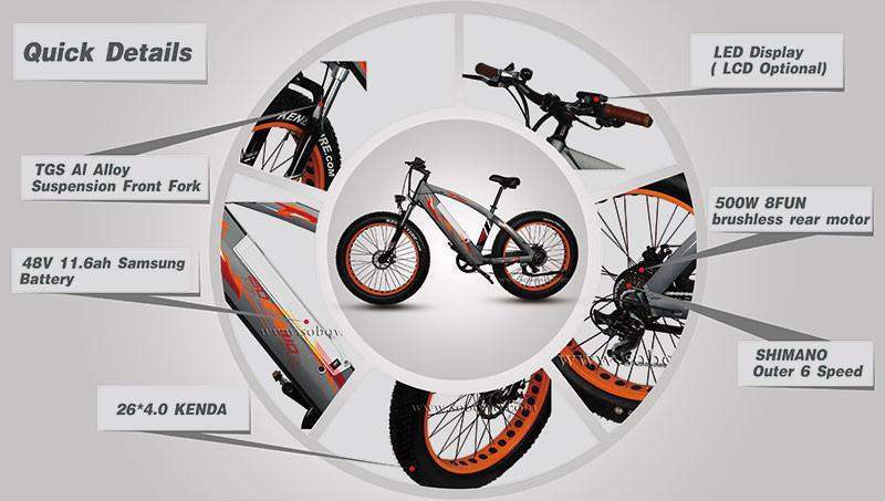 New Model Electric Bicycle 750w Motor Electric Bike Kit 3000w Big