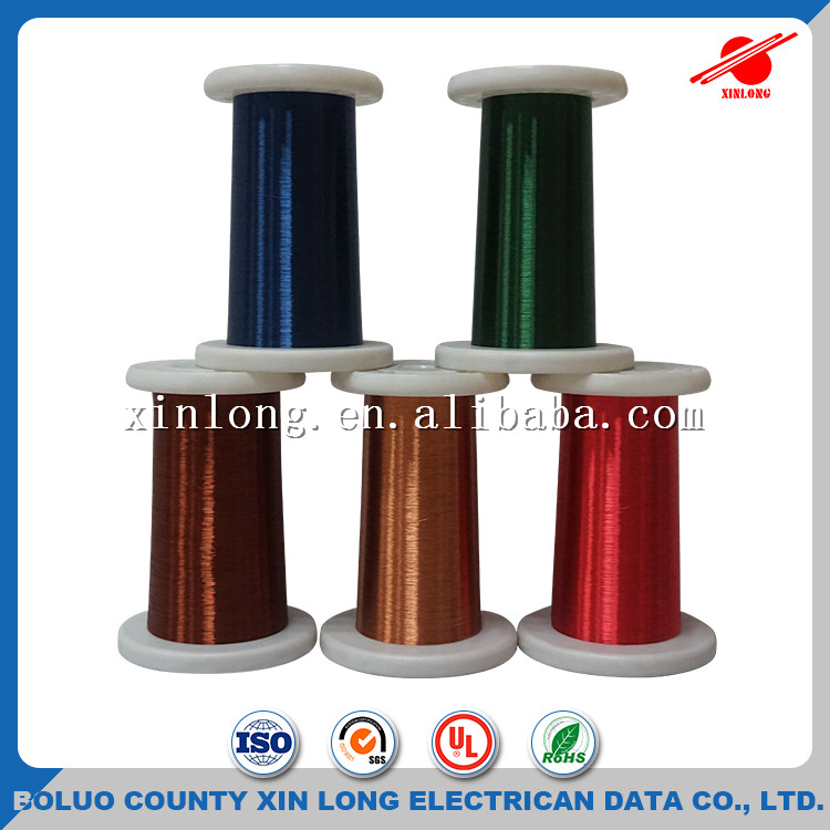 ISO Approved Electrical Wires Ultra Thin Self Solderable Enameled Copper Wire