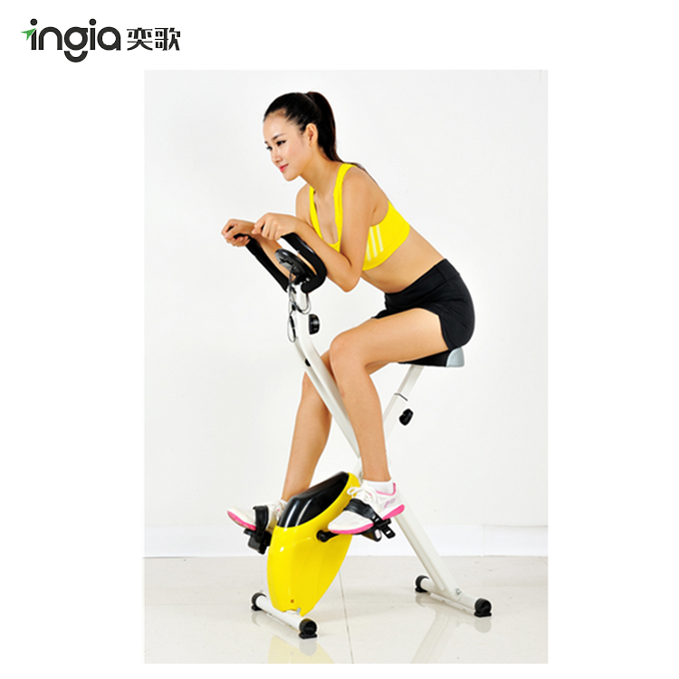 Adjustable Trainer Magnetic Mini Exercise Bike With Heart Rate Test