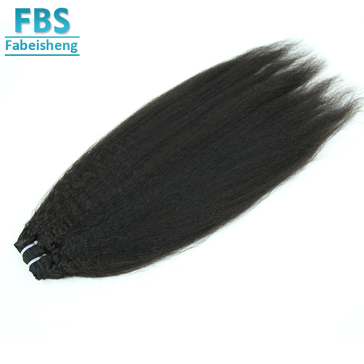 Soft and Wee Human Hair, Top Grade Yaki Straight Hair Weft