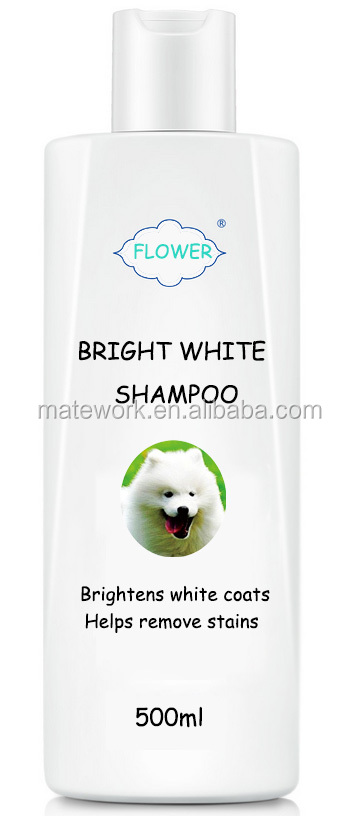 Luxury All Natural Pet Shampoo for Samoyed White Coat Dog, OEM Private Label Pet Bright White Organic grooming Shampoo