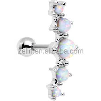 Surgical Stainless Steel Jewelry Dangle Helix Cartilage Earrings