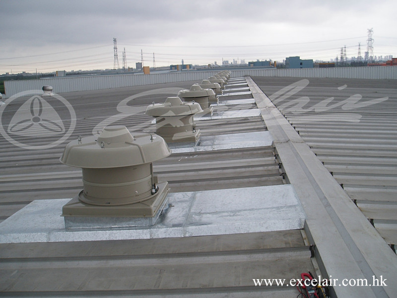 Industrial Roof Vents : Industrial roof ventilation fan for factory air exhaust