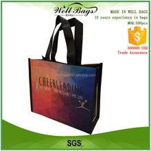 custom rush order delivery reusable PP non woven matt laminated sports event gift shopping tote bag alibaba trade assurance