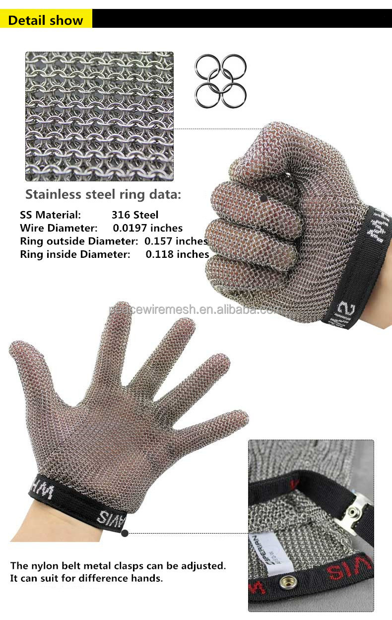 China Supplier Wire Mesh Chain Mail Protective Glove,Stainless ...