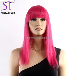 Cheap Chinese Wigs For Sale Fashion Pink Long Straight Wig Cosplay For Party