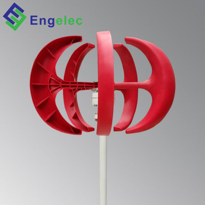 100W vertical axis wind turbine design red lantern wind generator 12v home use 11m/s rated wind speed