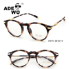 ADE WU 2017 custom optical pure titanium spectacle frames with rhinestone