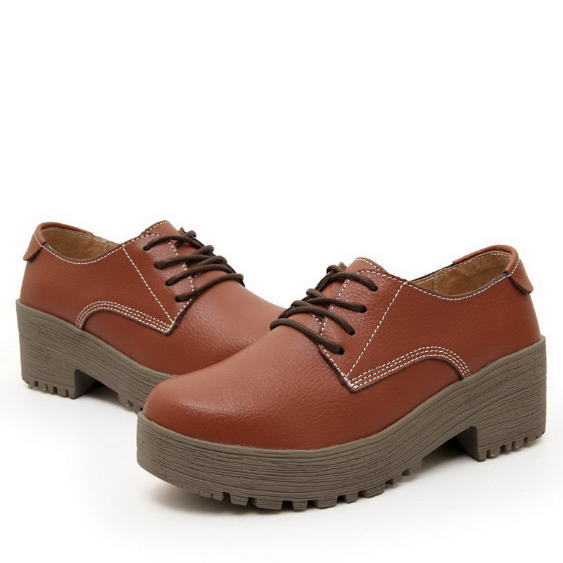 0e571dbfbcf Get Quotations · England Style Sweet Lady Flat Platform Shoes EU 35-40  Height Increasing Shoes Young Women