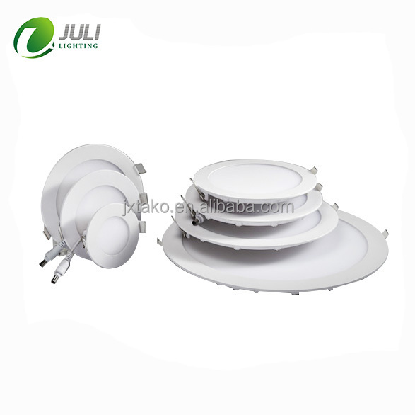 6W smd 2835 round ultra thin led recessed panel light with ce rohs