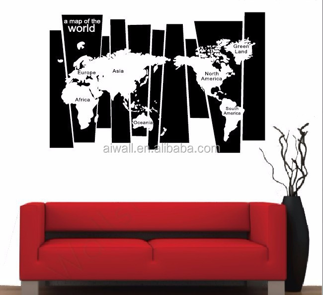 8120 World Map 3D Wall Stickers High Quality World Map Wall Sticker, Decal  Printing, Part 96