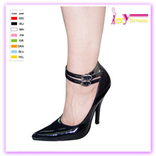 2017 milan fashion new design black ankle cover high comfortable heels dress shoes for wome