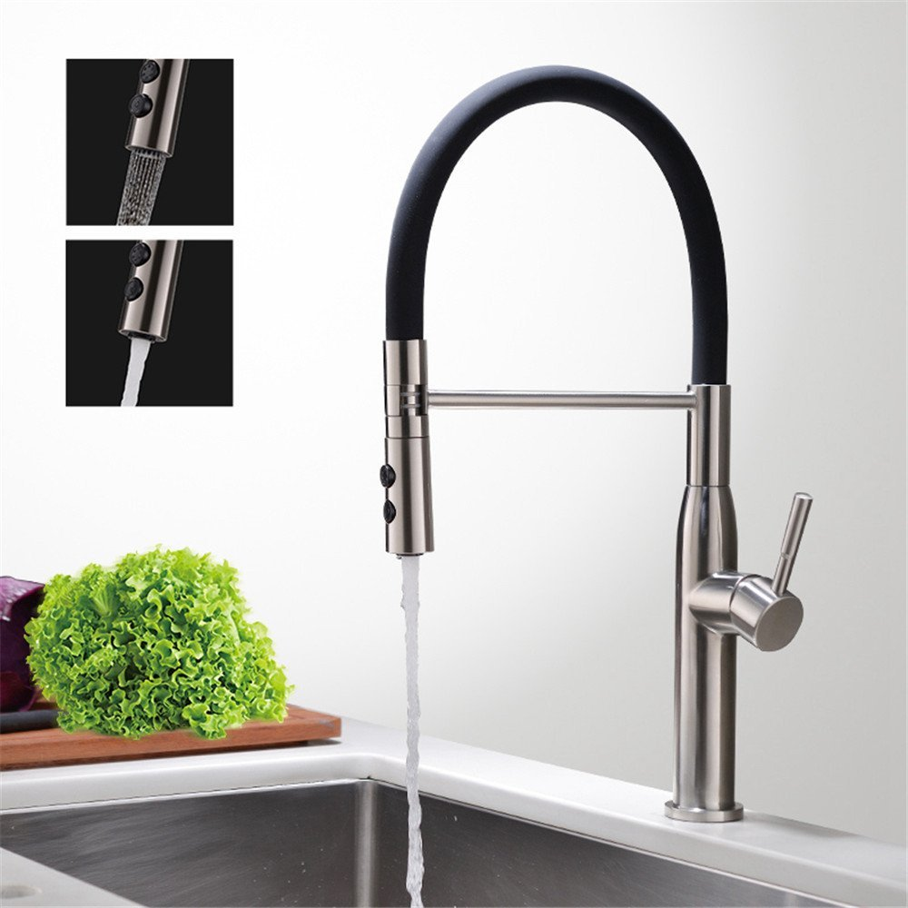 FHLYCF European style all copper kitchen faucet, hot and cold wash dish basin faucet, universal pull type water tank faucet