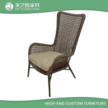 Wholesale Garden Furniture Cheap Outdoor High Back Bistro Rattan Dining  Chair Indonesia