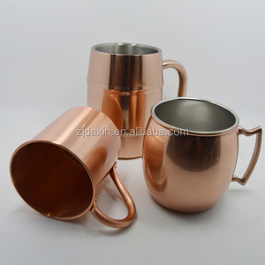 Russian Standard 14oz copper moscow mule copper mug with custom engraved logo