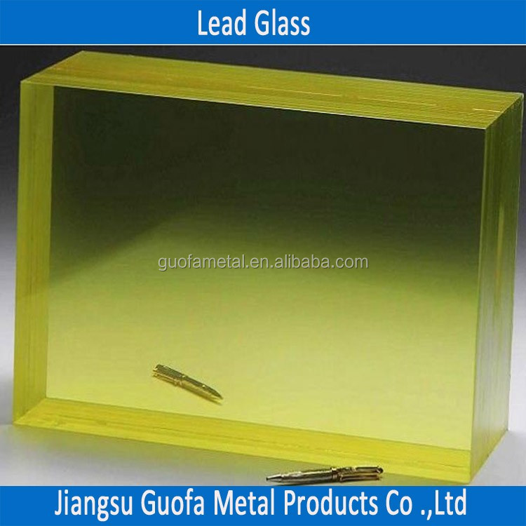 30mm 40mm ZF3 X Ray Shielding Lead Glass For X-Ray Room
