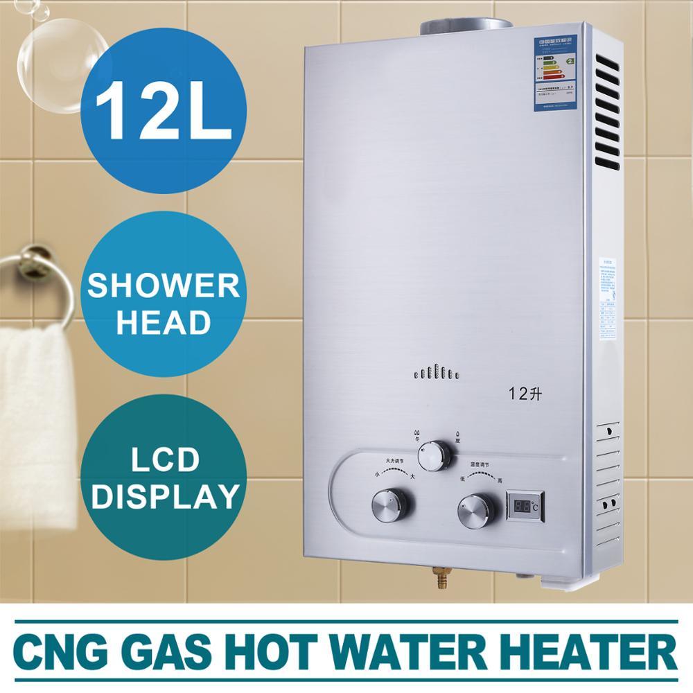 Calentador de agua de gas natural 12L calentador de agua caldera de agua caliente