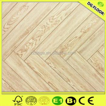 White Oak Color Mango Wood Laminate Flooring Herringbone Flooring