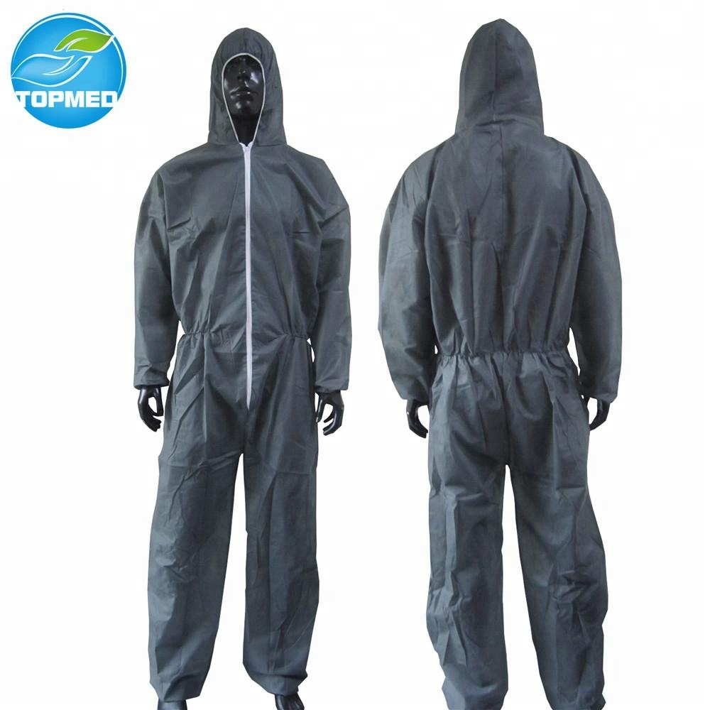 25 Pcs Shield Safety Disposable Polypropylene Coverall with Hood White Large