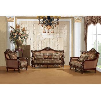3c1f11e363 S1416 Foshan fabric sofa furniture, living room wooden carved sofa set ,  new royal sofa