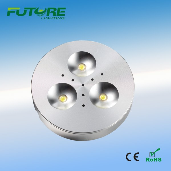 factory cheap price 3w high power led puck kitchen cabinet light