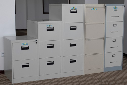 Horizontal 4 Drawer Metal Locking Cabinet / 4 Tier Lateral File ...