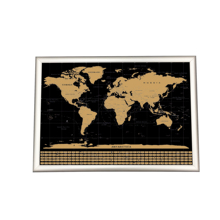 Design Personalizzato Edizione Deluxe Scratch Off <span class=keywords><strong>Mappa</strong></span> <span class=keywords><strong>Del</strong></span> <span class=keywords><strong>Mondo</strong></span> per Il Viaggiatore