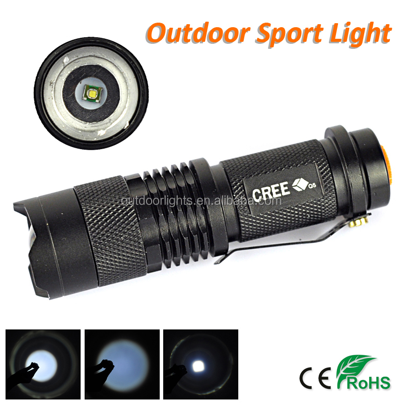 Factory Outlet CREE Q5 Zoom Mini LED Flashlight