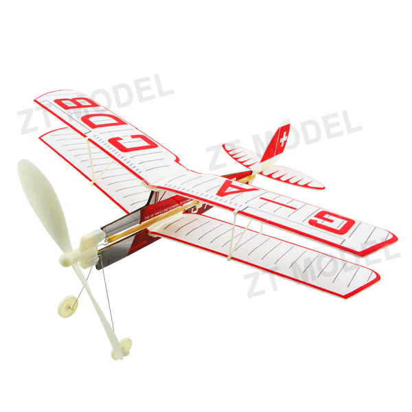 Aviator-Tiger Moth Rubber Band Powered Aircraft Model Biplane Model