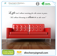 120x30cm customized transfer film Removable Family Love House Decal Clear Vinyl Quote Wall Sticker