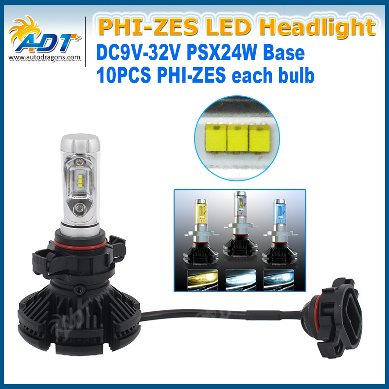 Aftermarket Car Parts LED Headlight with Warning Canceller Function 50w psx24w LED 8000 Lumen