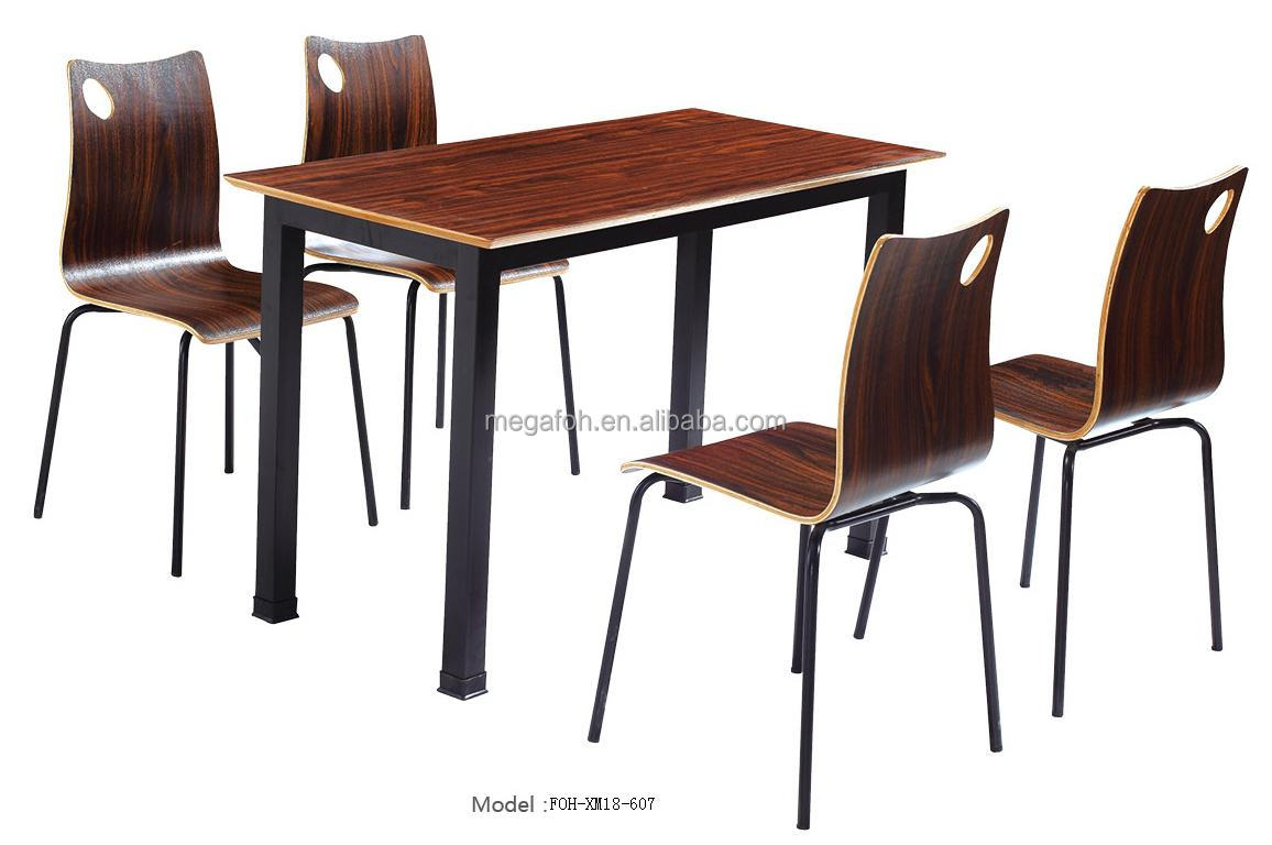Nigerian style canteen table/chairs set restaurant furniture(FOH-XM18-607),  View table/chairs set, FOH Product Details from Guangzhou Mega Import And  ...